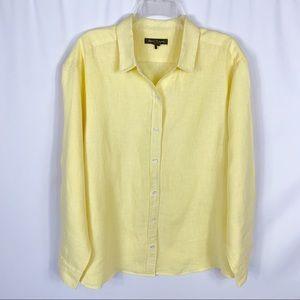Tommy Bahama Linen Long Sleeve Button Blouse XL